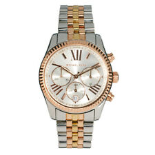 Nuevo Michael Kors MK5735 Tricolor Acero Inoxidable Cronógrafo Reloj Para Mujer