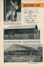 1952 House Built From Steel Pipe Johnstown & Armagh Pennsylvania Construction
