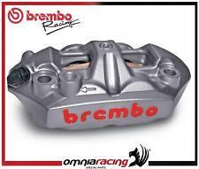 étrier radiaux gauche Brembo Racing monoblocs Fusa M4 100 emp 100mm SX + plaq