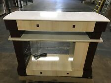 Nail Dryer Table Station Manicure Pedicure Salon Furniture Dark Wood Rectangle