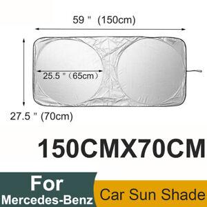 For Mercedes-Benz Car Sun Visor Folding UV Block Windshield Cover Shade 150x70CM