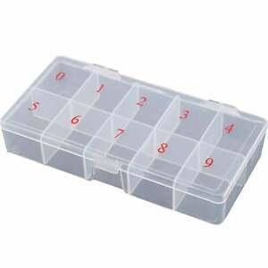 Nail Polish Direct False Nails & Tips Clear Box (Sizes 0-9) (EMPTY)