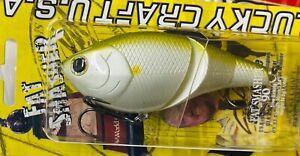 LUCKY CRAFT FAT SMASHER 90 HARD BODY LIPLESS SWIMBAIT - PEARL AYU