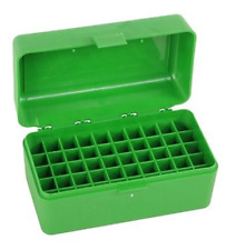 MTM 50 ROUND RIFLE AMMO BOX RM-50 Shooting Hunting Outdoor Ammunition Gun PD
