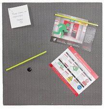Invo Plata Malla Magnético Bulletin Board completa con los imanes y pines 500x500m