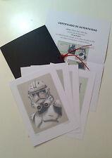 """Carpeta con 4 láminas (tipo litografía). """"STAR WARS"""". Autor: Miguel Angel Alfaro"""