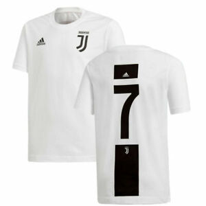 Adidas Maillot Juventus Officiel T-Shirt Enfant FI2376 CR7 Cristiano Ronaldo