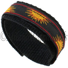 16mm Speidel Sun Rise Black With Yellow & Red Nylon Sports Wrap Watch Band 621
