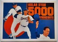 "Upper Deck 1990 Nolan Ryan MLB Sports Card ""5000 Strikeouts"" #34 Texas Rangers"