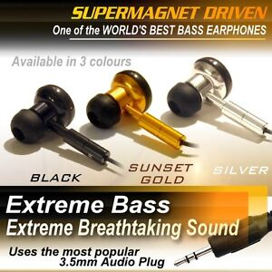 EXTREME MEGA SUPER DEEP BASS EARPHONES / Headphones In Ear Earbuds HIGH QUALITY