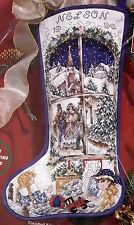 Janlynn Holiday Dreams Victorian Christmas Town Cross Stitch Stocking Kit 80-310