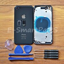 ALLOY METAL COMPLETE HOUSING GLASS BATTERY COVER REPLACEMENT FOR iPhone 8 BLACK