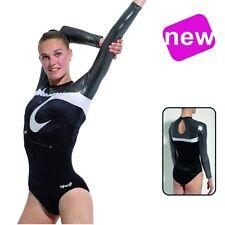 Gymnastikanzug/Turnanzug Samt+Glitzer+Strass Gr. 158/164 *NEU*AGIVA 8619/1599