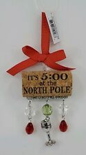 Ganz Merry Wine-mas It's 5:00 at the North Pole Bottle Cork Christmas Ornament