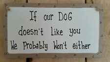 Unbranded Wooden Dog Decorative Plaques & Signs