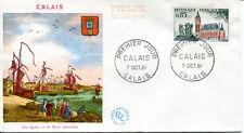 FRANCE FDC - 407 1316 3 CALAIS 7 10 1961