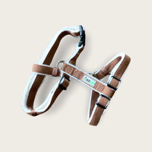 Hemp Dog Harness, Adjustable Fleece Lined Harness - Chocolate Brown by Asatre