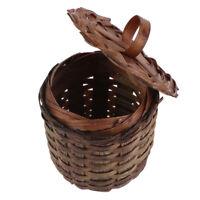1:12 Puppenhaus Miniatur Weben Bambuskorb Gemüsekorb Modell Spielzeug ~ * I.XUI
