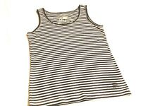 Nice Size M OLEG CASSINI Sport Black & White 100% Cotton Striped Tank Top Shirt