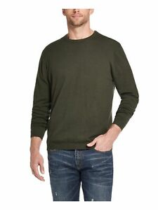 WEATHERPROOF VINTAGE Mens Green Long Sleeve Crew Neck Classic Fit Cashmere