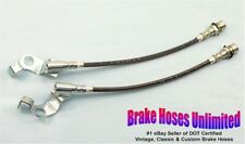 STAINLESS FRONT BRAKE HOSES Ford Custom 1965 1966, Disc