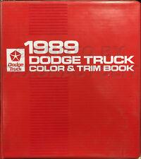 1989 Dodge Truck Color Upholstery Dealer Album D150-D350 Pickup Van Dakota Ram