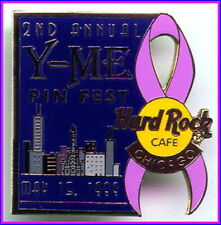 Hard Rock Cafe CHICAGO 1999 Y-Me 2nd PINfest Event PIN Breast Cancer Awareness