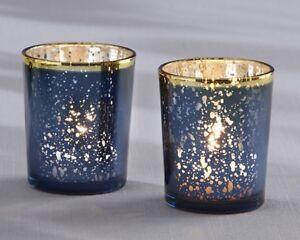 72 Blue Mercury Glass Tea Candle Holder Wedding Bridal Shower Party Favors