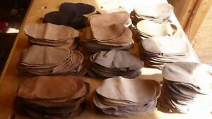 1 pairs of 1970s Vintage Elbow /Knee patches retro stock suede leather clothes