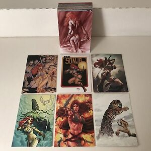 """RED SONJA 35th ANNIVERSARY """"BACK TO BASICS"""" (DF/2009) Complete Base Card Set"""