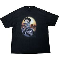 Betty Boop Wild Child Motorcycle Shirt Sz XL Black Short Sleeve Tee