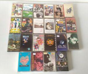 Vintage Cassette Tape Bundle X 22 Classic Rock Pop 70s Hits Indie 80s 90s #9