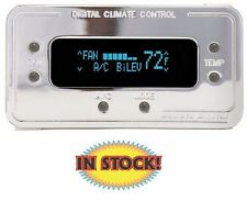 Climate Control Panel for Vintage Air Gen II Chrome with Teal - DCC-2200-C-T