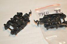 Ho scale Parts freight car trucks plastic Tyco 6 wheel talgo (crane, 62' tank)