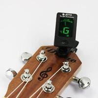 New LCD Clip-On Electronic Digital Guitar Chromatic-Bass Violin Ukulele Tuner