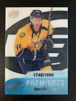 2011-12 Upper Deck Ice ROOKIE Premieres Ryan Ellis Acetate RC /1999 Predators