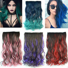 7Colors Body Wave Glueless 5Clips In Cosplay Hair Extensions Highlight Hairpiece