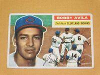 VINTAGE OLD 1950S BASEBALL 1956 TOPPS CARD BOBBY AVILA CLEVELAND INDIANS