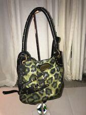 NWT Buffalo David Bitton Animal Print Cotton & Polyester Handbag Medium