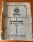 MG TD Manual Workshop Original 1952 Midget