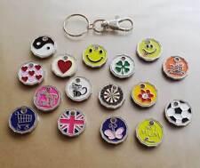 NEW SHAPE Shopping Trolley Token £1 Coin Pound Supermarket Locker Key Ring Clasp