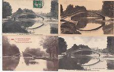 Lot 4 cartes postales anciennes CHÂLONS-SUR-MARNE passerelle du canal