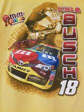 2013 Kyle Busch #18 Large T Shirt Nascar M&M Racing Chase Authentics