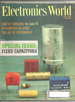 Electronics World July 1965 - Fixed Capacitors, Coax VS Twinlead, Space, more