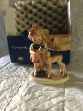 "New ListingHummel Goebel ""Friends"" Girl with Fawn Deer 5 1/4"" size 136/1 1947 *Box Is Fair"