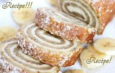 "☆Banana Roll with Cheesecake Filling ""RECIPE""☆Creamy Make Ahead!☆Yummers!!! :)☆"