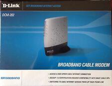 D-Link Cable Modem High Speed DOCSIS 2.0 USB 2.0 10/100Mbps Ethernet DCM-202