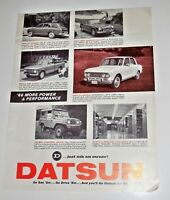 Datsun 1966 Brochure~1600 Sports~411 Sedan~411 Wagon~L-520 Pickup~Patrol 4-Wheel