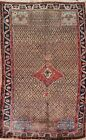 Vintage Geometric Traditional Oriental Area Rug Hand-knotted Wool 5x8 ft Carpet