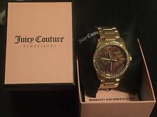 Juicy Couture Women's EMMA Crystal Stainless Steel Watch Rose Tone $275 Retail